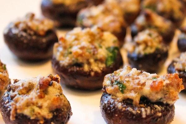 Boursin Sausage Mushrooms