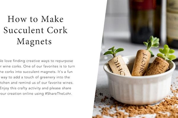 Succulent Cork Magnets Card
