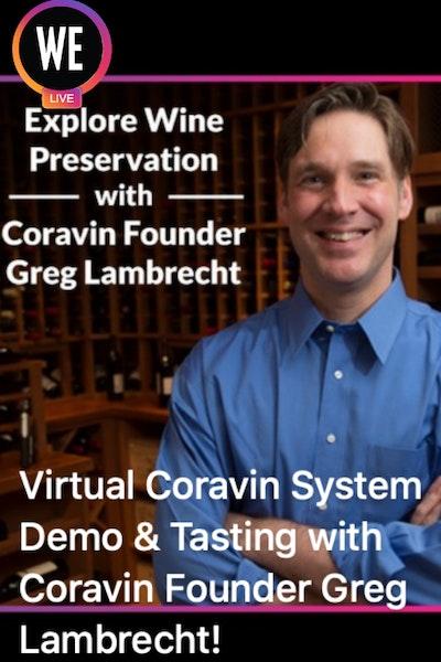 WE Coravin Video Poster Website